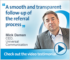 Mick Daman, Universal Communication - A smooth and transparent follow-up of the referral process